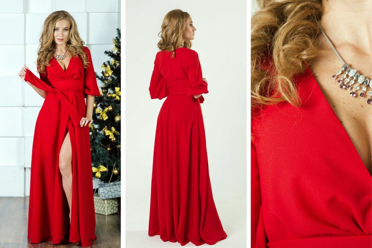 Божественно прекрасное платье для божественно прекрасной девушки! Актуальная модель с запáхом и широким поясом позволяет варьировать степень откровенности декольте. Заманчиво, не правда ли?  5000 руб.