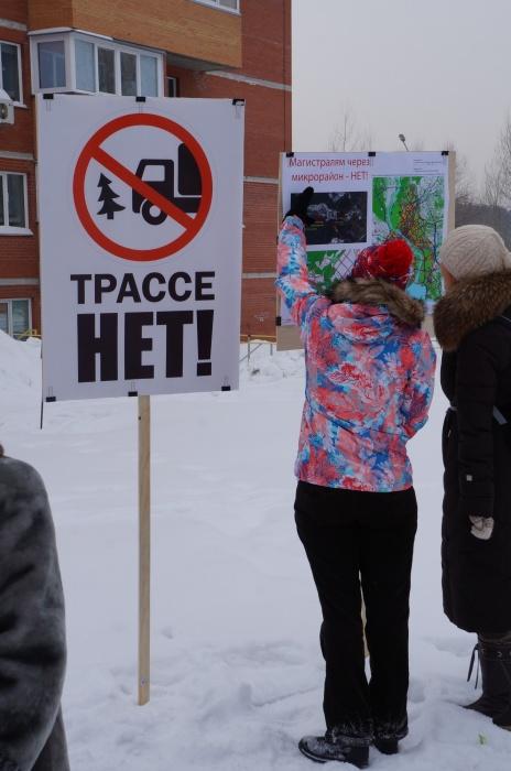 Пикет против строительства Восточного обхода через Нижнюю Ельцовку