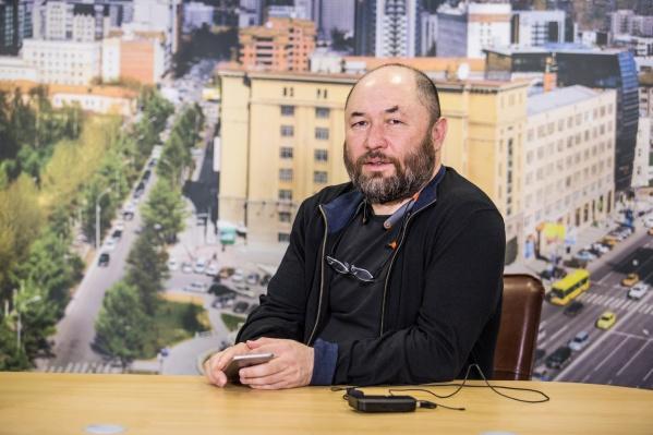Тимур Бекмамбетов на пресс-конференции в НГС
