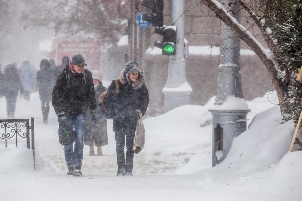 По прогнозу синоптиков, на город обрушится метель и мокрый снег