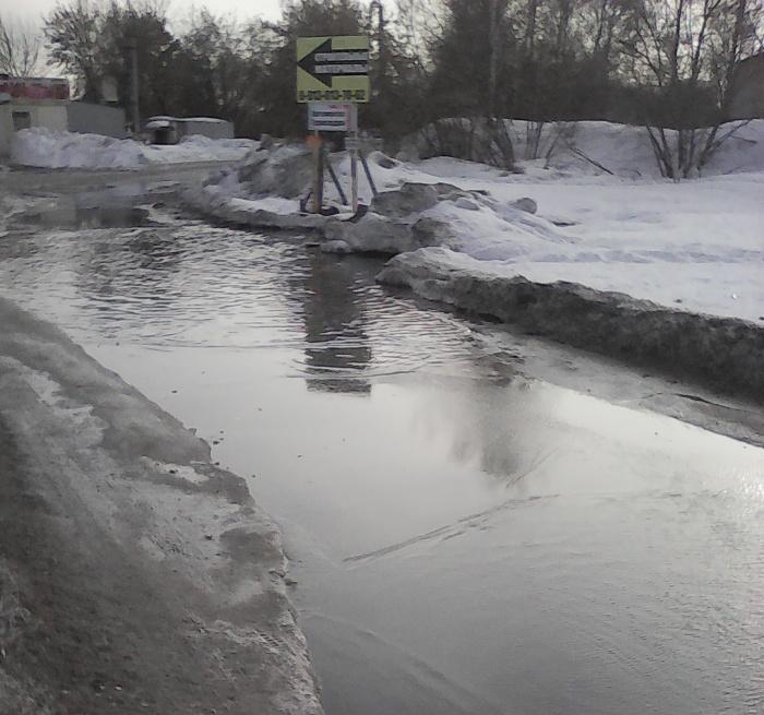 Так выглядел путь к дачному дому Сергея Алексеева на прошлой неделе