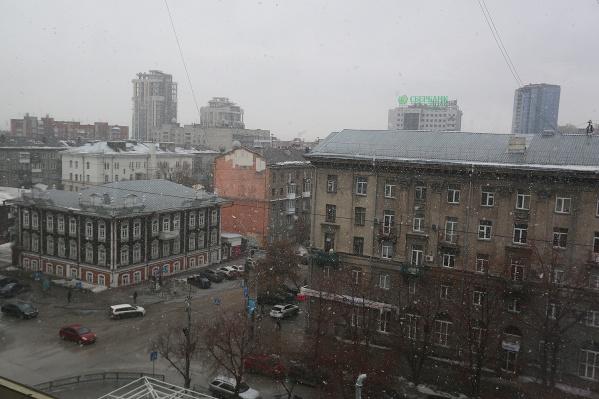 В Новосибирске установилась переменчивая погода со снегом и дождем