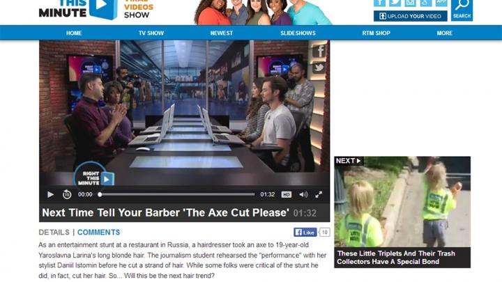 Стрижка топором от новосибирского стилиста попала на американское ТВ