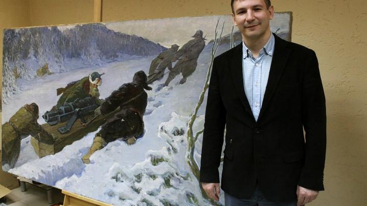 Найдена огромная картина новосибирского художника за 3 миллиона рублей