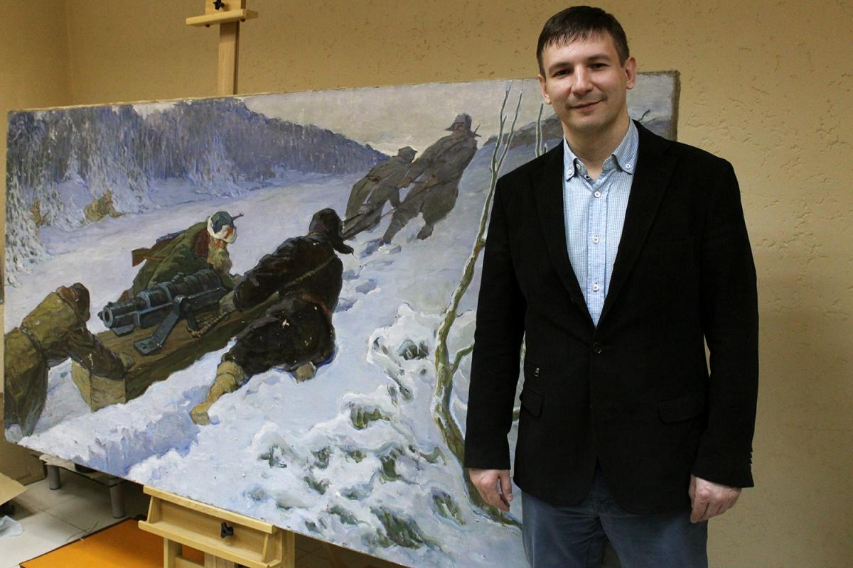 Григорий Гапонов с картиной