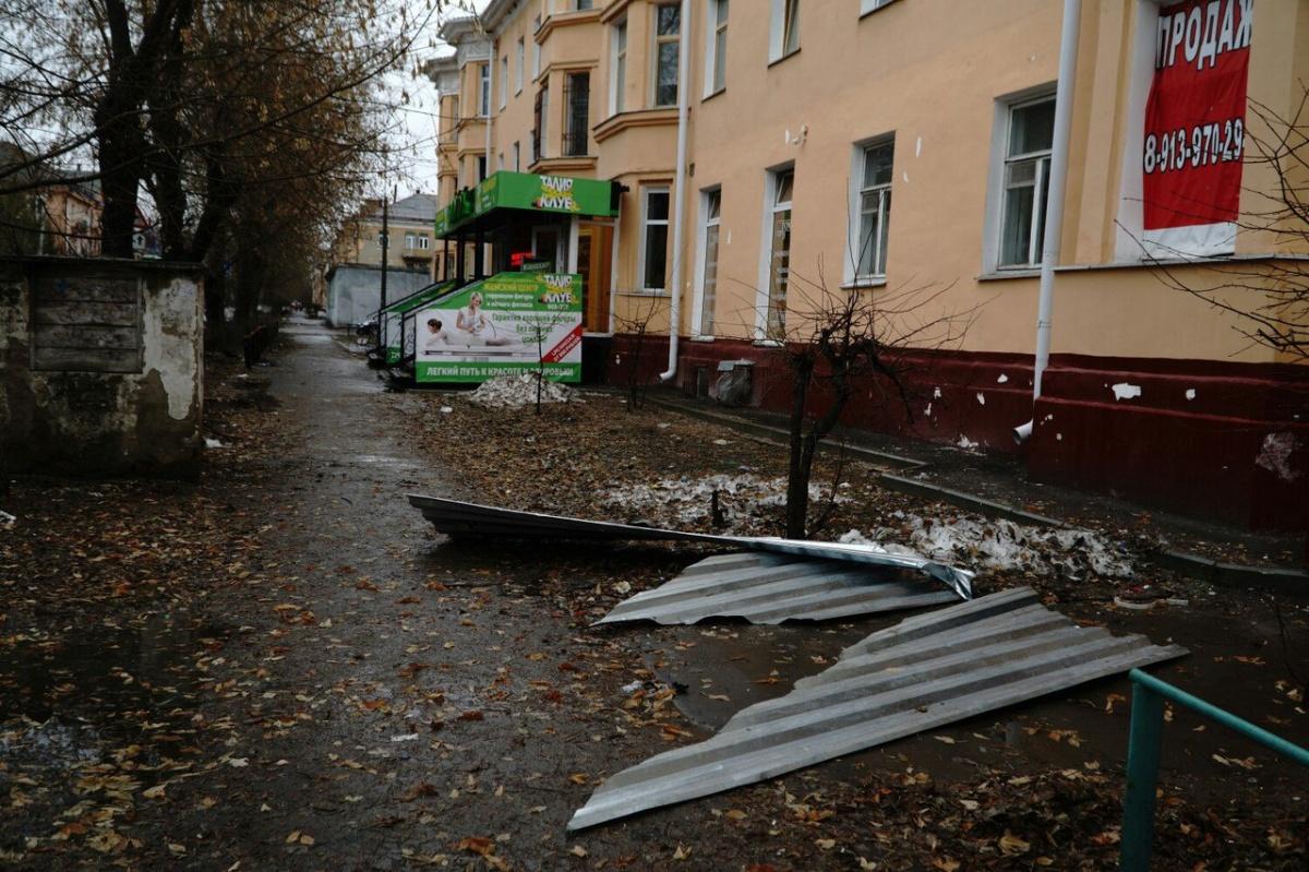 ВОмске дерево упало надом, разбив окна внескольких квартирах