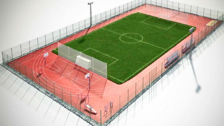 На «Зеленом острове» появится стадион с уличными тренажерами