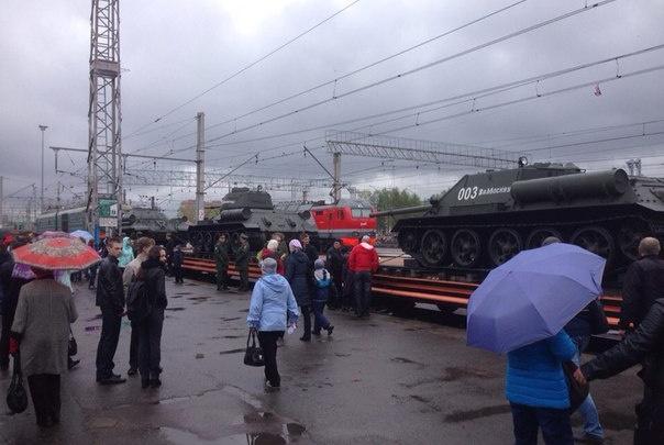 В Омск приедет поезд с танками