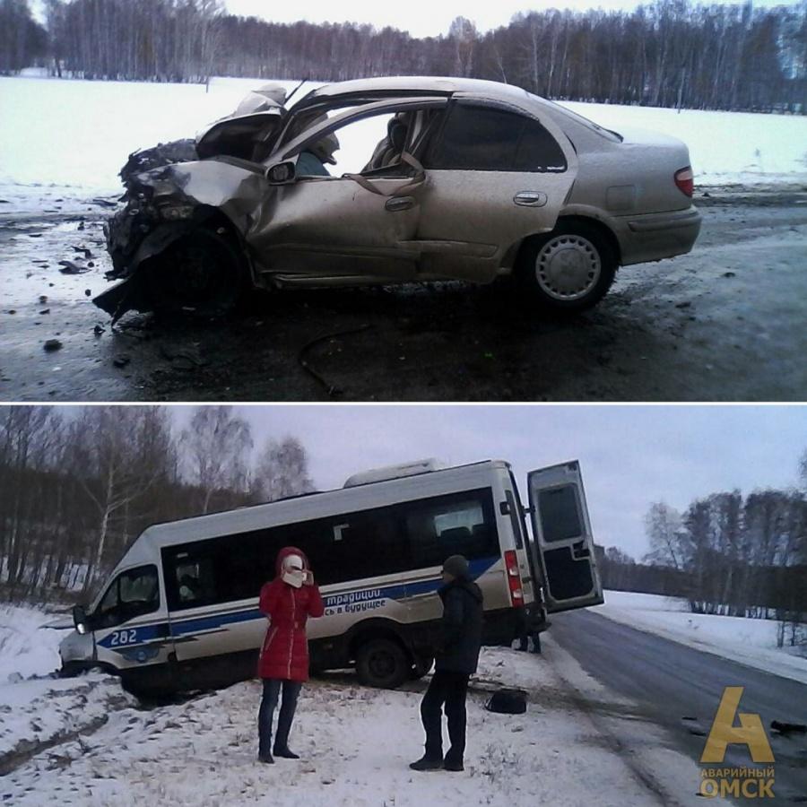 ДТП смикроавтобусом под Омском: девять человек пострадали, умер ребенок