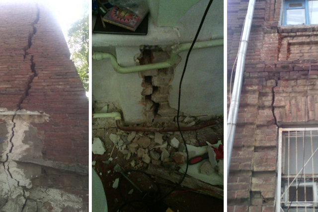 Нехорошие квартиры: жильцы коммуналки на улице Суворова опасаются обрушения стен
