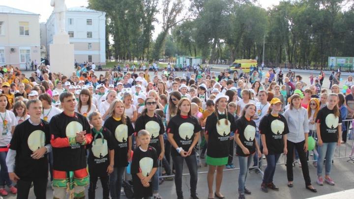 900 школьников Самарской области приняли участие в танцевальном флешмобе «Поколение Маугли»