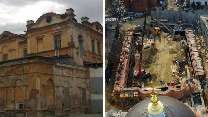 Вместо Успенской церкви - стройка: смотрим, что осталось от древнейшего памятника Екатеринбурга