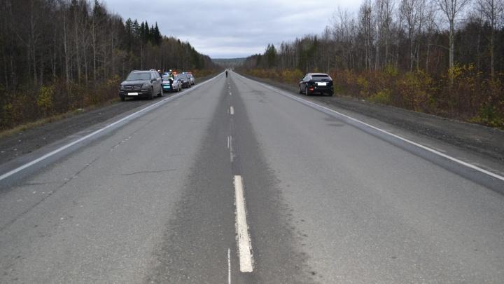 Mercedes сбил насмерть мужчину, перебегавшего Серовский тракт