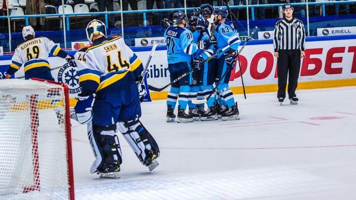 Реванш за Рождество: «Сибирь» одолела хоккейный клуб из Сочи