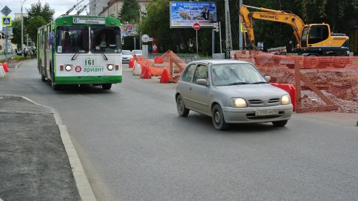 Из-за ремонта улицы Белинского троллейбусы перестанут ездить по вечерам на Уктус и Химмаш
