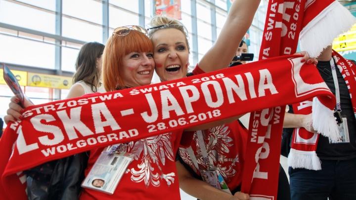 Польские болельщики в аэропорту сделали сальто с волгоградскими волонтерами