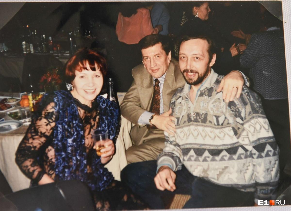 С Николаем Колядой и первым мужем Игорем
