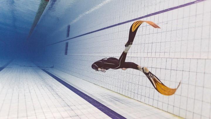 Новосибирец установил новый рекорд России в подводном плавании