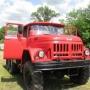 В зауральском селе старый армейский ЗИЛ переделали в пожарную машину