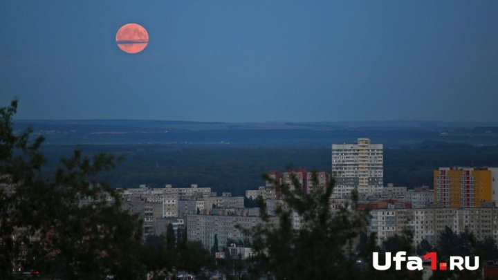 Лунное затмение: «кровавая луна» повисла над Уфой