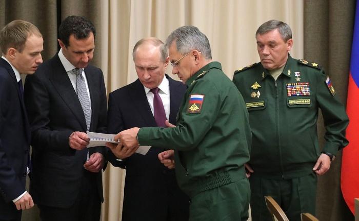 На встрече с Башаром Асадом президент России Владимир Путин заявил о скором завершении военной операции в Сирии