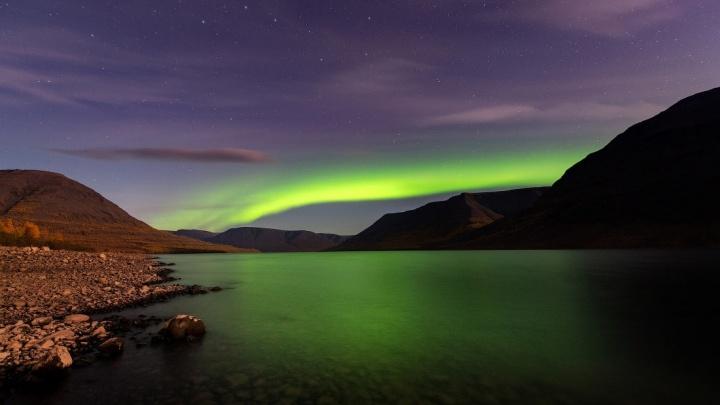 Известный фотограф снял северное сияние на плато Путорана