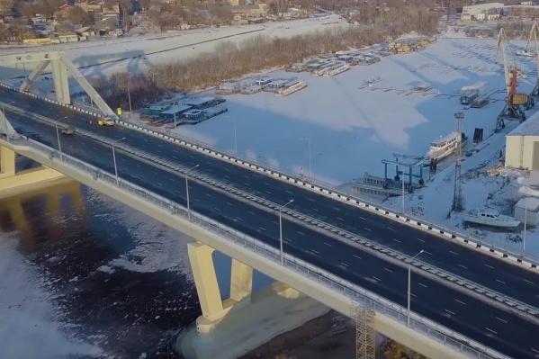 Так мост выглядел за сутки до открытия