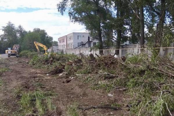 Пока на участке проспекта Кирова идут только подготовительные работы