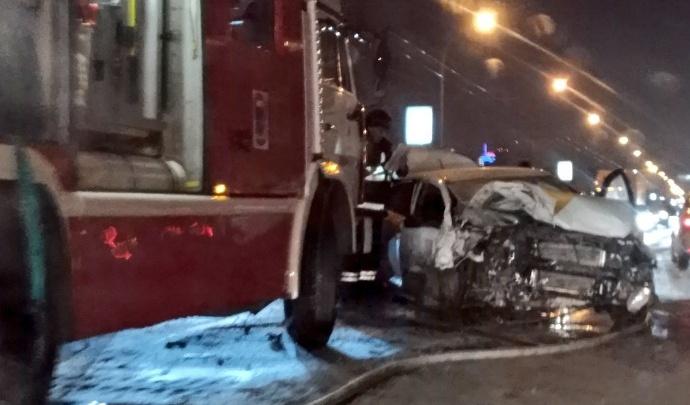 Полиция: 25-летний виновник ужасной аварии на Октябрьском мосту был пьян