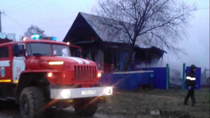 В Башкирии при пожаре погибла женщина