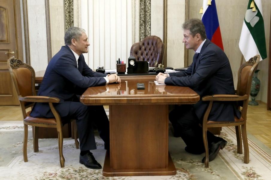 Кокорин и Козицын обсудили сотрудничество холдинга и области