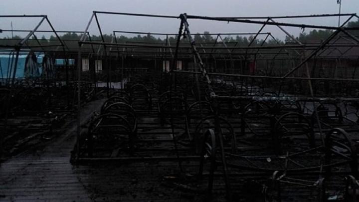 В Хабаровском крае при пожаре в детском палаточном лагере погиб ребенок