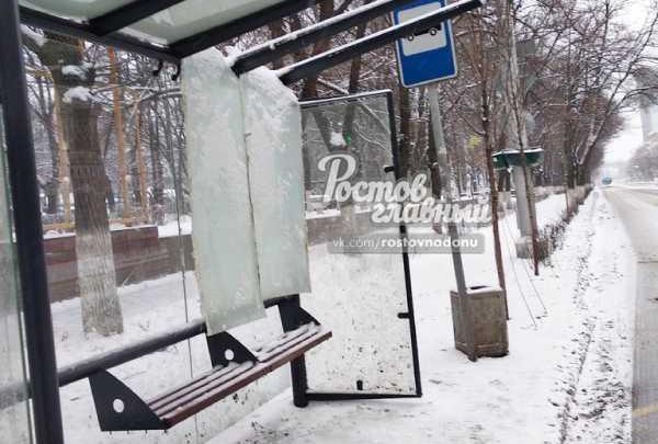 В Ростове сломалась новая остановка