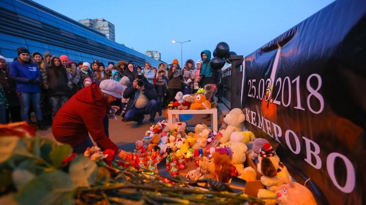 Что будет с цветами и игрушками, которые принесли к набережной Енисея в память о погибших в Кемерово