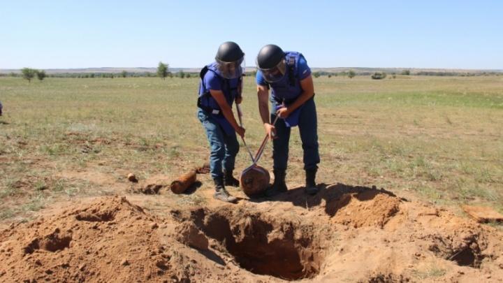 Под Волгоградом обнаружили 34 снаряда времён Сталинградской битвы