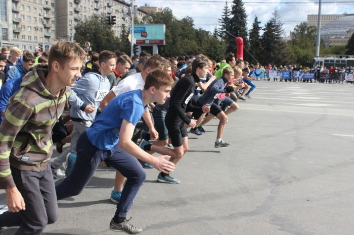 На Сибирском фестивале бега в сентябре 2017 года