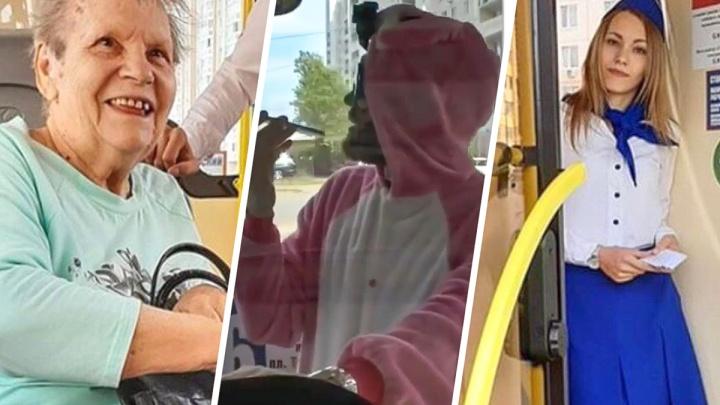 Пранкер в костюме кролика бесплатно катал ростовчан на 26-м автобусе