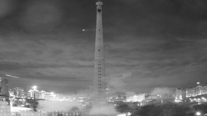 Неизвестное небесное тело пролетело рядом с башней