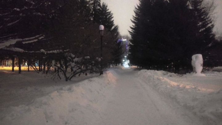 «Люди толпами ходят в темноте»: новосибирцы пожаловались на плохое освещение в Первомайском сквере