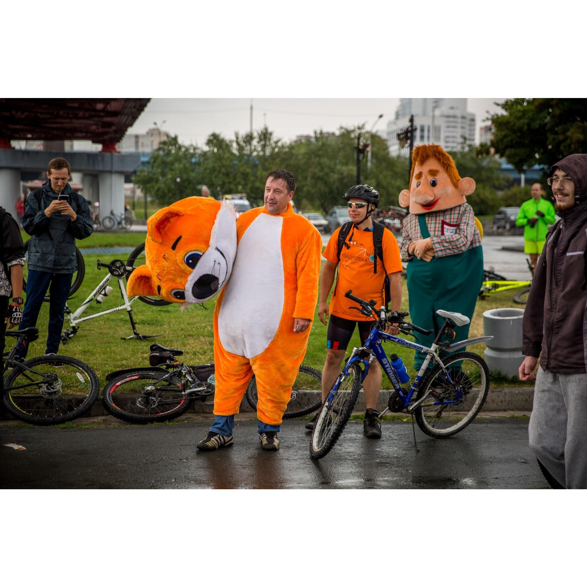 Погода скорректировала планы велосипедистов, и, вероятно, в солнечный день участников было бы больше