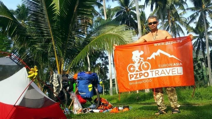«Пересек 7 стран». Пермский путешественник на велосипеде доехал до Таиланда