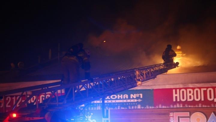Стала известна предварительная причина пожара в ресторане «Три оленя»