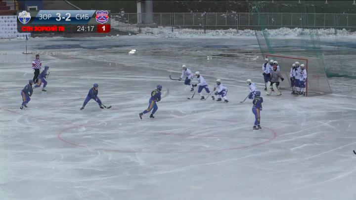 Хоккей с мячом: «Сибсельмаш» обыграл «Зоркий»