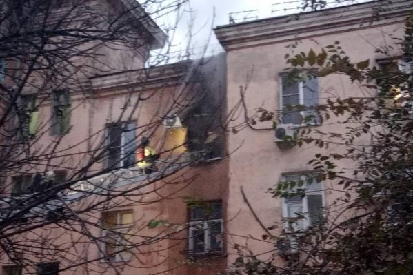 Квартира загорелась в 7:29