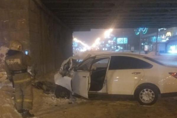 Авария случилась в воскресенье в 23:50