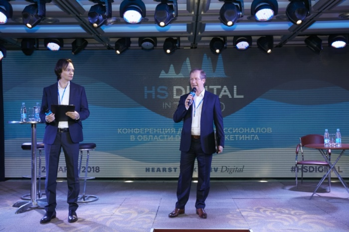 Президент Hearst Shkulev Publishing Виктор Шкулёв (справа) и главный редактор Maxim Александр Маленков