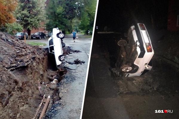 Авария произошла на улице Тольятти