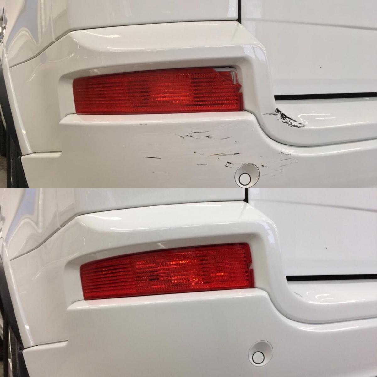Локальное восстановление ЛКП заднего бампера на Volvo XC90
