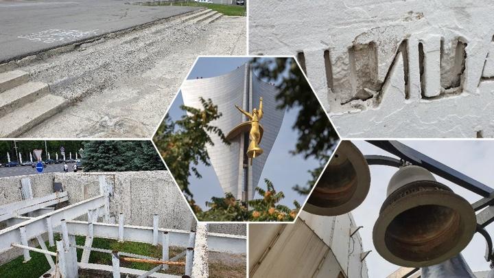 На ремонт стелы на Театральной площади потратят еще шесть миллионов рублей