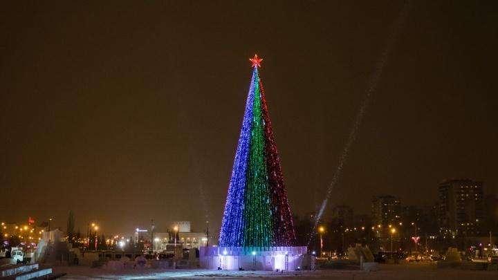 Новогоднюю ёлку перед Театром-Театром установят к 28 ноября